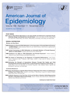 The American Journal of Epidemiology